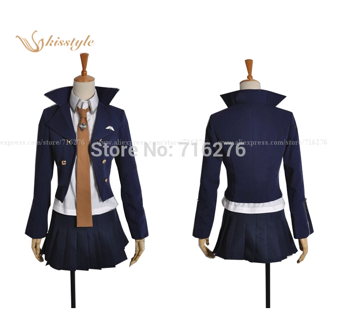 Kisstyle mode Anime Super Dangan Ronpa 2 brume coupe anneau le son tissu uniforme Cosplay Costume