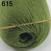 High Quality 100 Pure Cashmere Luxury Warm Soft Hand Knitting Yarn Olive Green 233 15