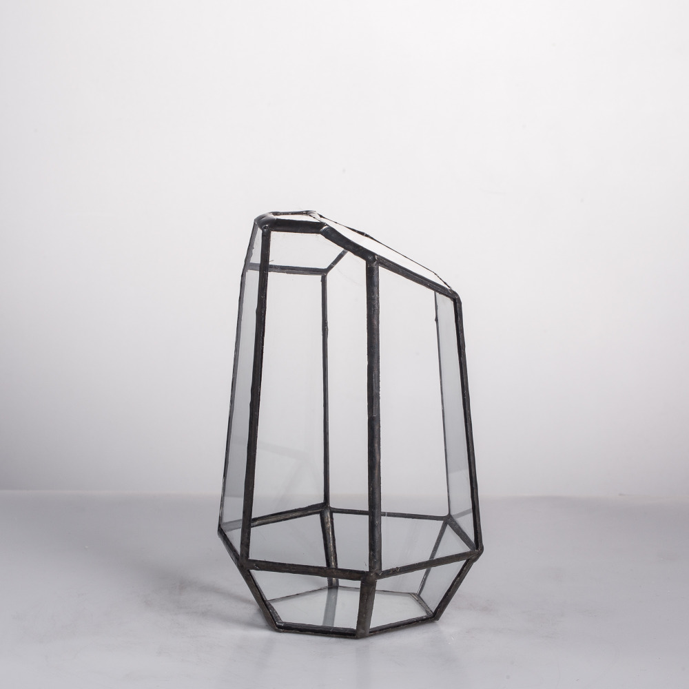 Modern Onregelmatig Glas Geometrisch Terrarium Box Tafelblad Vetplant - Huisdecoratie - Foto 6