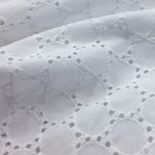 Soft White Cotton Flower Lace Fabric for Dress,Diy American Japan Kids Swiss Tissu Embroidery Patchwork Cloth Sewing Materials