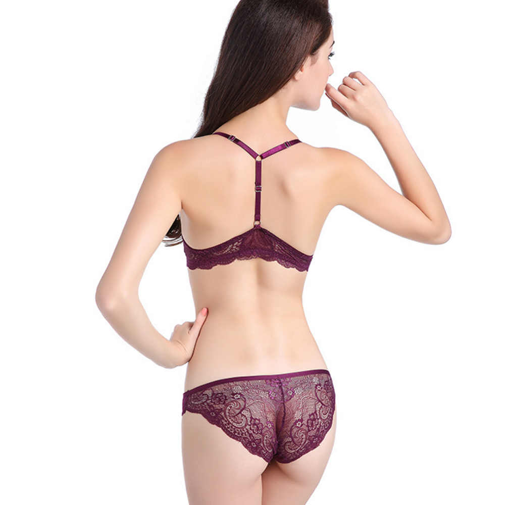 c57cddecda ... Sexy Front Closure Lingerie Push up Bra set Lace Bras For Women Underwear  set Y- ...
