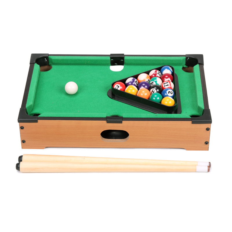 Aliexpress.com : Buy 13.5 Inch Mini Pool Tabletop Game Set Wooden Toys For  Children Mini Billiard Table With Cues Triangle And Mini Pool Ball From  Reliable ...