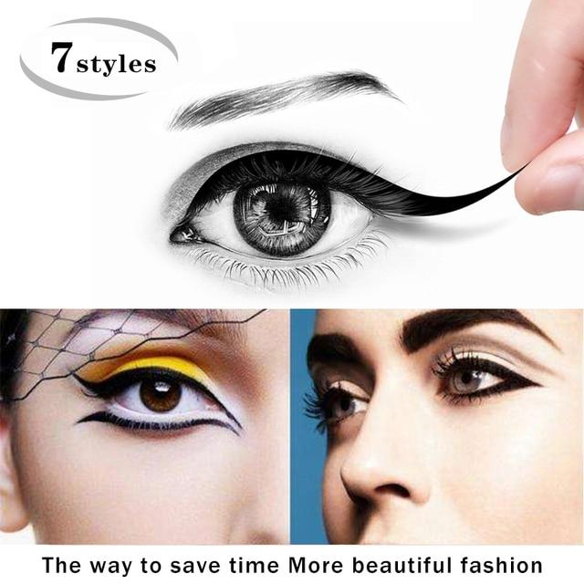 6pcs Cat Eyesmokey Eye Makeup Eyeliner Stencil 2 Sides Repeatable