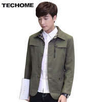 New spring Trench Coat Men brand clothing thin Trench Coat Men Outerwear Casual Coat Men's Jackets Windbreaker Mens Trench Coat