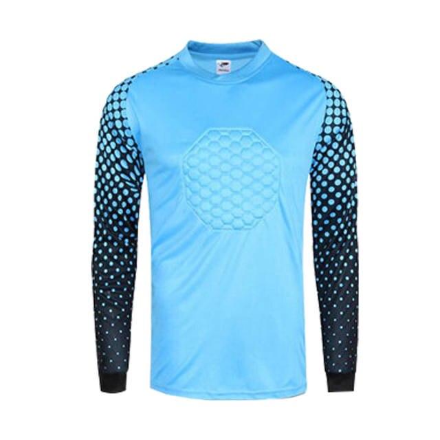 2017 Novos esportivos tailândia goleiro jerseys camisas longas da luva  camisas de goleiro esponja personalizado jerseys ea648bd62ba83
