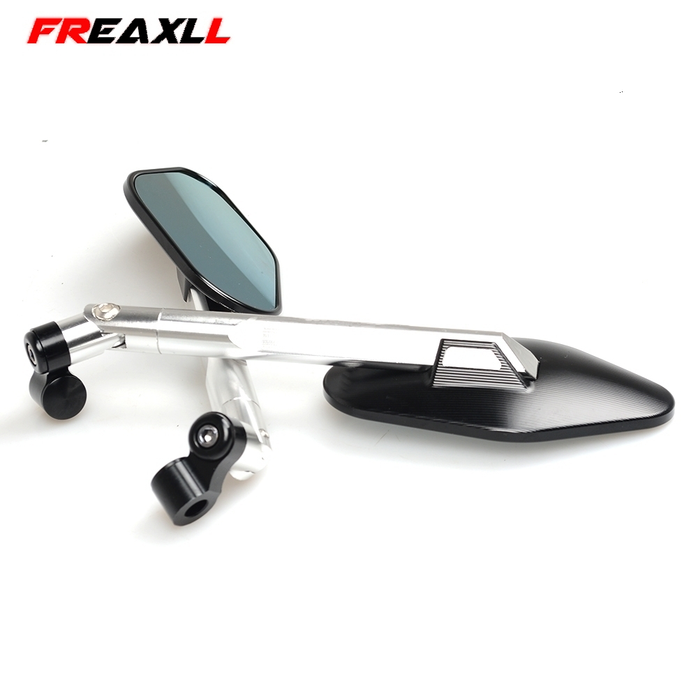 Universal 1 pair Motorcycle Mirror Side Rearview Motorcycle Accessories For YAMAHA MT07 FZ07 MT 07 MT09 MT 09 MT 09 YZF R1 R6 R3 in Side Mirrors Accessories from Automobiles Motorcycles
