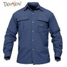TACVASEN быстросохнущая Мужская походная рубашка, съемная Военная тактическая рубашка с карманами, Охотничья рубашка, рубашки для рыбалки на открытом воздухе
