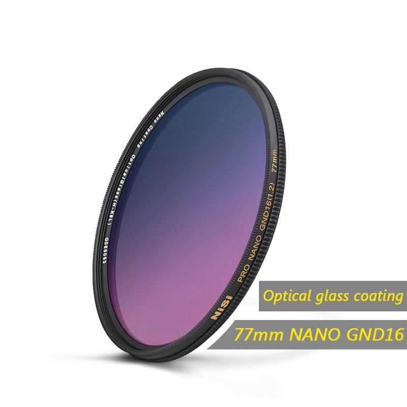NiSi GND16 GC-GRAY Impermeabile Vetro Ottico Ultra-sottile Nano di Rivestimento del Filtro 67mm/72mm/77mm /82mm