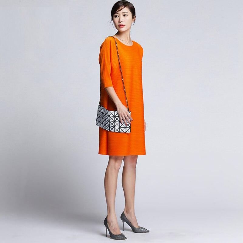 3 Mode Grande O Miyak D9 see Mini Femelle Design Uni 2018 Lâche Robes cou See Plissé Douille Femmes Taille Printemps Chart Robe 4 Changpleat Chart 0qv64X