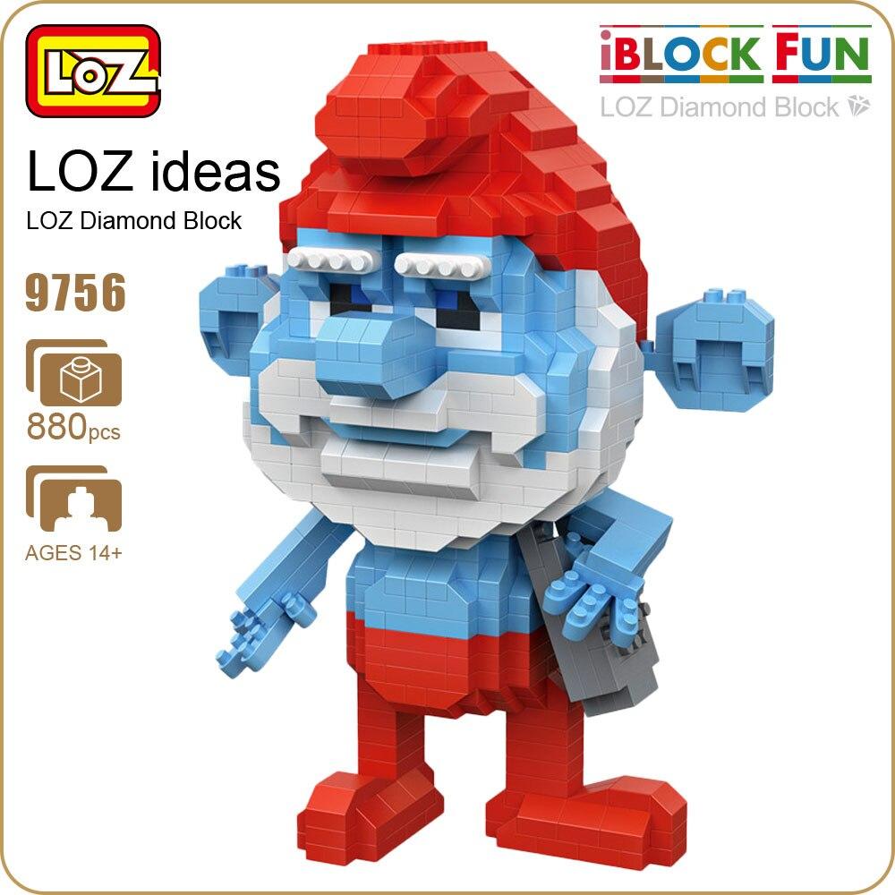 LOZ Diamond Blocks Nano Figuras Boneca Action Figure Anime Blue Wizard Brick Toys Gift for Children Educational Toy Mini 9756 loz mini diamond block world famous architecture financial center swfc shangha china city nanoblock model brick educational toys