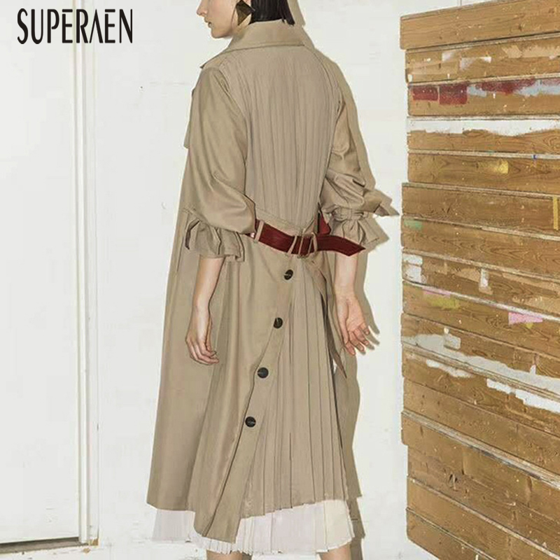 1 Nuovo Impermeabili Donne Superaen A Coreano Cotone Primavera Casual  Abbigliamento Signore Per E Vento Selvaggio Modo ... f6962baaec4
