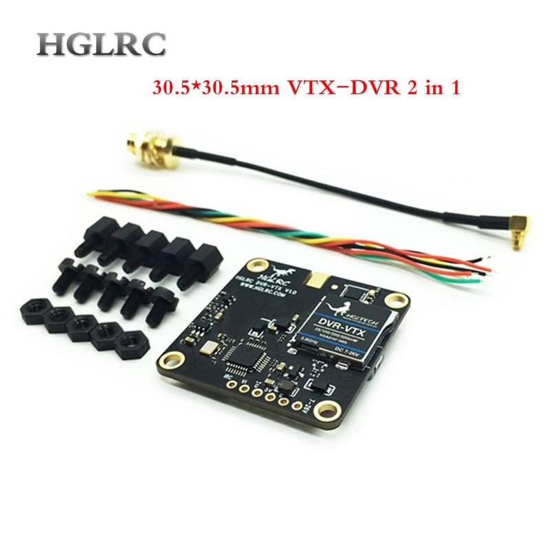 HGLRC 30 5 30 5mm DVR VTX AIO 5 8GHz VTX DVR 40CH FPV Transmitter Built