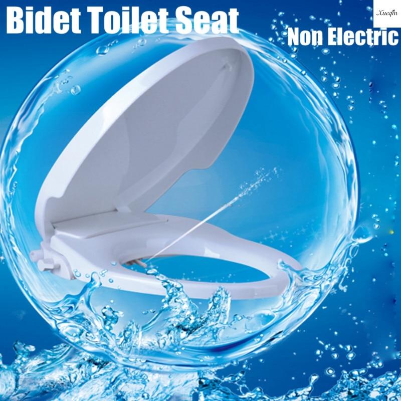 Bathroom Bidet Spray Non-Electric Bidet Toilet Seat Lid Cover Attachment Bidet Bathroom Washing Self-Cleaning Toilet Seat Cover 3pcs set bathroom toilet non slip blue ocean style pedestal rug lid toilet cover bath mat