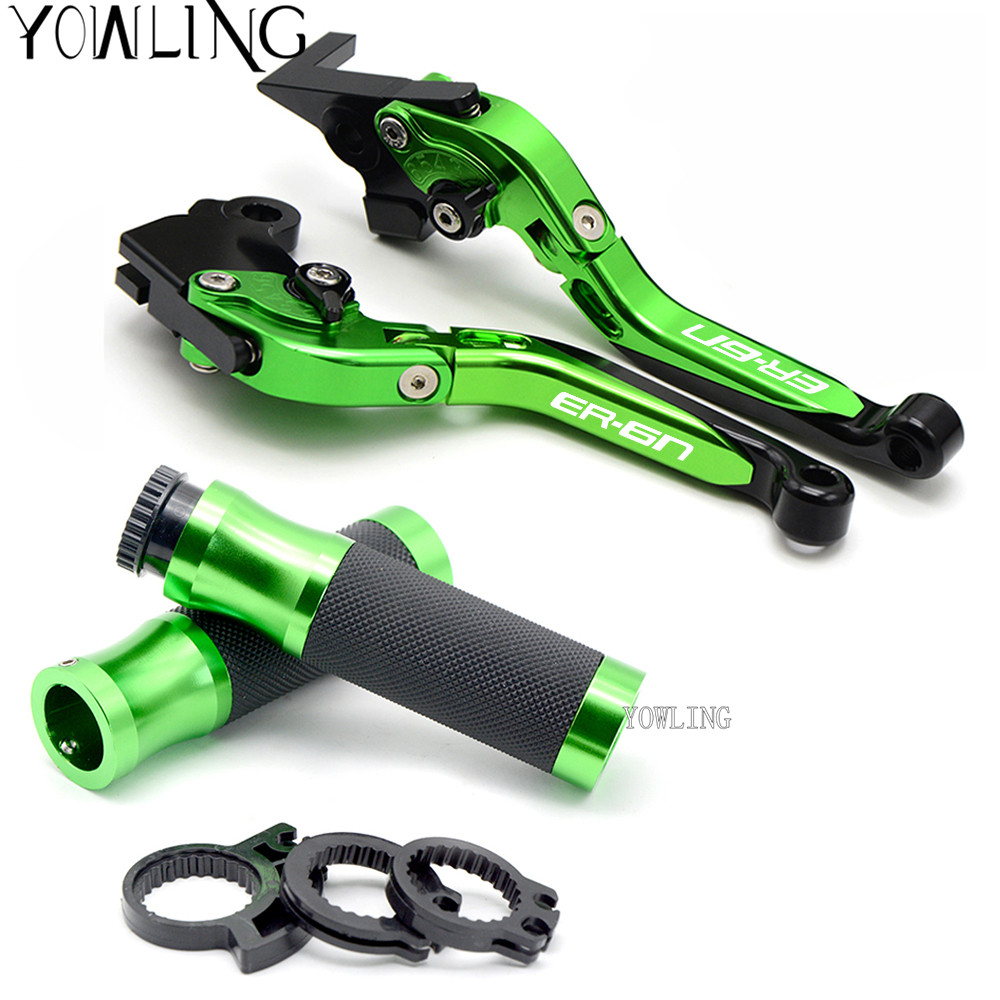 CNC Motorcycle Brake Clutch Levers handle bar hand grips For KAWASAKI ER-6N ER-6F ER6N ER 6N ER6F NINJA 650 2006 2007 2008 top quality cnc foldable folding fingers wave brake clutch levers for kawasaki ninja 650r er 6f er 6n 2006 2008 red