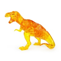 Coolplay 3D Puzzles DIY Dinosaur Crystal Puzzles Children Play DIY Kids Toy Gift Plastic Wild Animal