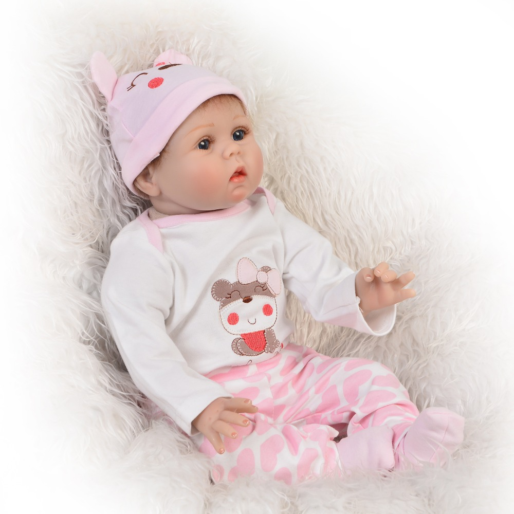 Classic Popular Realistic Rooted Mohair Newborn Doll 22 55cm Soft Silicone Vinyl Lifelike Reborn Baby Dolls For Girls XMAS Gift