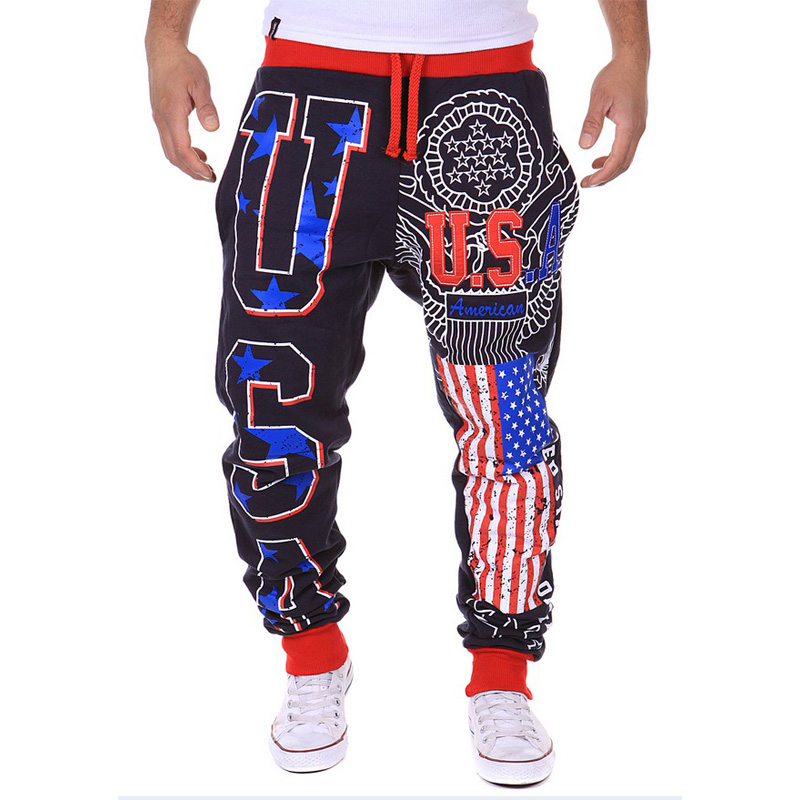 Free Shipping Mens Casual Pants USA Letter Print Design Tide Commodity Fashion Large Size High Quality
