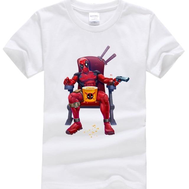 Jungen Ninjago Kleidung 100 Baumwolle Lustige T Shirts Sommer Marvel Deadpool Print