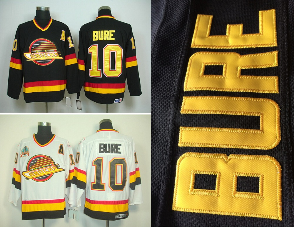 ... pavel bure 2003 04 black  ccm throwback stitched nhl jersey white  online shop hot sale mens vancouver canucks hockey jerseys 10 e8e878706