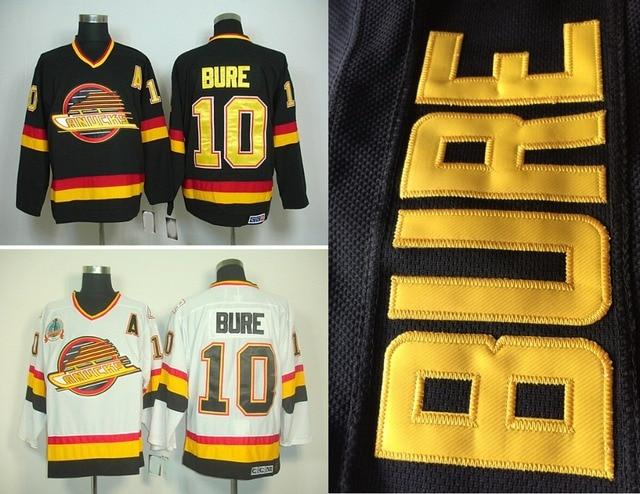feb238a4896 ... hot sale mens vancouver canucks hockey jerseys 10 pavel bure jersey  home black vintage white