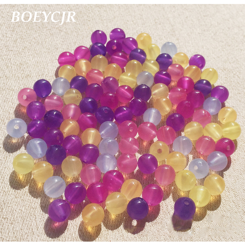 50Pcs 7x7mm Drum Shaped Color Change Thermo Sensitive Beads DIY Jewelry
