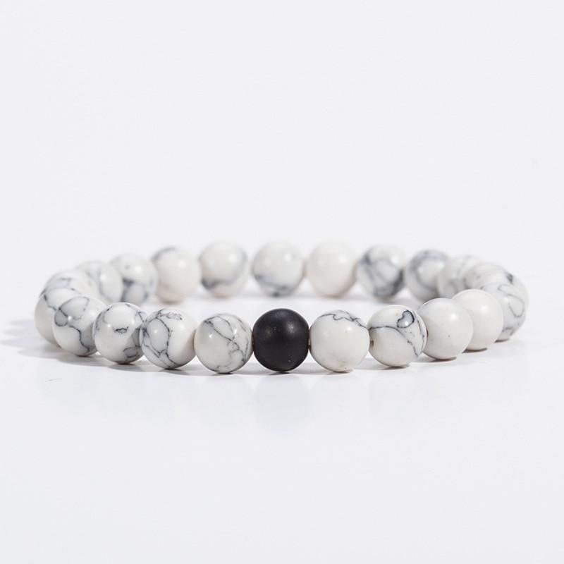 Mdiger Brand Men Jewelry Classic Marble Pattern Beaded ...