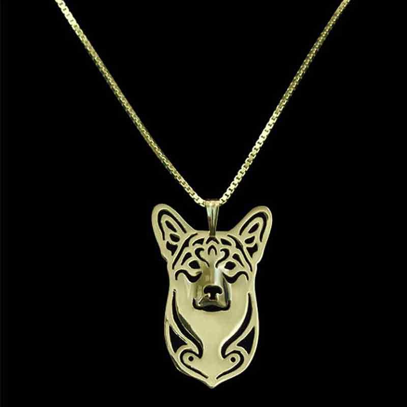 Pembroke Welsh Corgi Dog Pendant Necklaces Gold-color For Pet Lovers Women Animal Jewelry & Cloth Accessories 2017