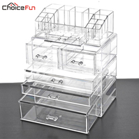 CHOICE FUN Home Desktop Table Vanity Large Storage Box Organization Clear Acrylic Drawers Make Up Makeup Organizer For Cosmetics