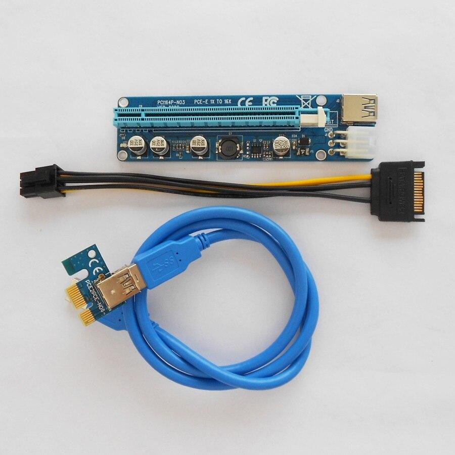 10 Sätze/los Upgrade Edition Ver 008c Pcie 1x Zu 16x Pci Express Extender Riser-karte Pci-e Verlängerung Adapter Miner Maschine Kabel