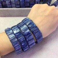 Натуральный Кианит бисером браслет натуральный камень драгоценный камень браслет DIY jewelry браслет для женщины бесплатная доставка оптовая т