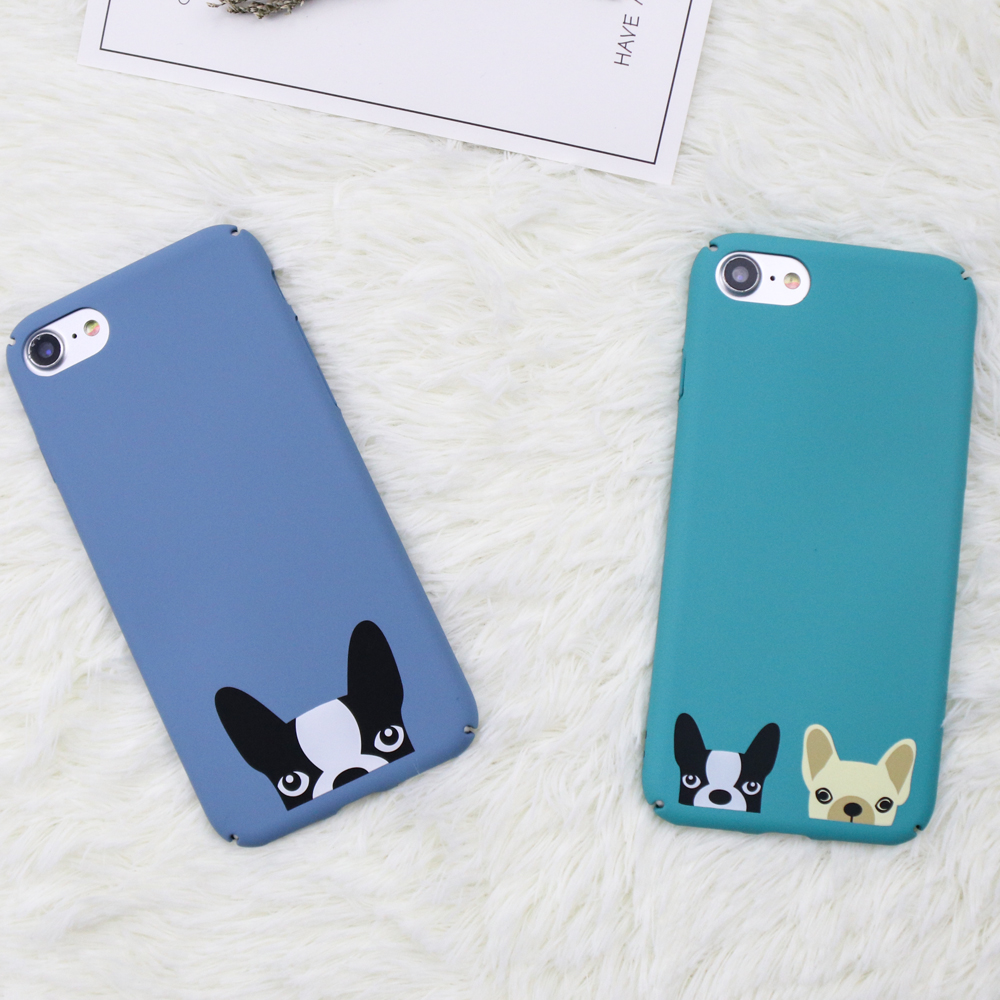 Funny Cartoon Dog Pattern Cover For Iphone 6 6s 7 8 Plus Case Ultra Peonia Electroplating Transparent Ultrathin Samsung J7 Pro 2017 Thin Cute French Bulldog Hard Pc Phone Coque Funda In Fitted Cases From Cellphones