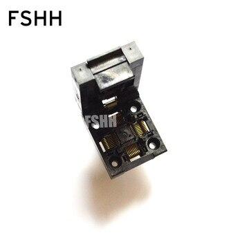 Clamshell QFP32 TQFP32 LQFP32 ic test socket Pin pitch=0.8mm Size=7x7mm 9x9mm