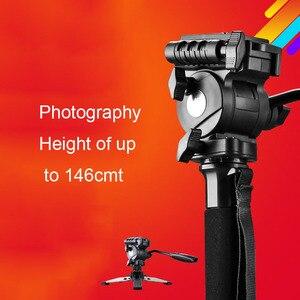 Image 2 - Tripod Weifeng WF 3958M WF 3958M kamera tripodlar Monopod SLR fotoğraf makinesi taşınabilir seyahat tripodlar destek ayak tripodlar