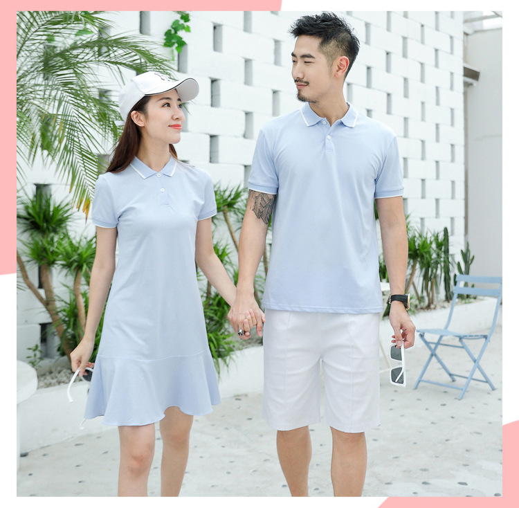 HTB1eRW4XAY2gK0jSZFgq6A5OFXa5 - family matching outfits summer Polo shirt mother daughter matching dresses dad son turn down collar family couple clothes