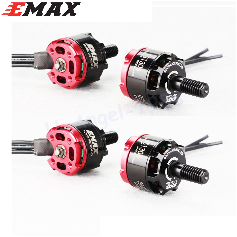 4set/lot Original Emax RS1306 3300KV/4000kv CW&CCW Brushless Motor for FPV Racing QAV130 QAV150 2CW 2CCW original emax rs1104 5250kv brushless motor t2345 tri blades propellers cw ccw props for 130 rc brushless racer drone q20400