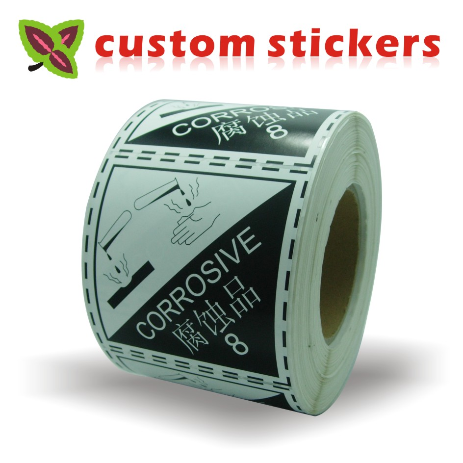 Custom Stickers Print Fragile Kraft Paper PVC Vinyl Round Clear Self Adhesive Label Packaging Sealing Circle Logo Sticker Roll