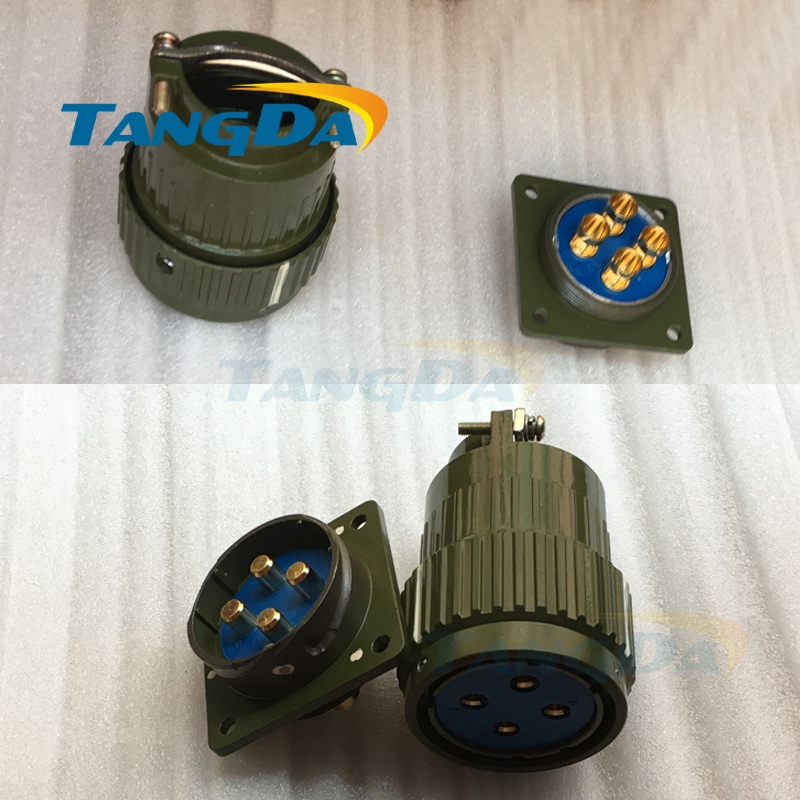 Tangda YP36-4 military aviation plug Y36M-4 100A core current copper plated connector rapid fastener A. army green metal yp36 y2m 4 19 36 50 65 pins aviation connector new 1pc