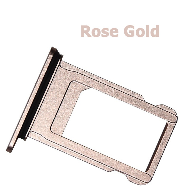 buy popular d5619 08e86 US $0.01 10% OFF|NYFundas SIM Card Tray Holder Nano Slot Replacement  Adapter for iPhone 7 Plus 7plus Repair Parts Jet Black Rose Gold Silver  2016-in ...