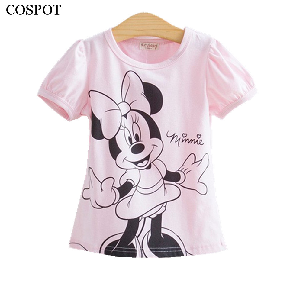 Cospot baby girls tshirt girl summer short sleeved casual for Newborn girl t shirts