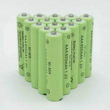 12pcs a lot AAA Rechargeable Battery AAA NiMH 1 2V 600mAh Ni MH 3A Pre charged