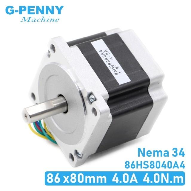 NEMA 34 silnik krokowy cnc 86x80mm 4,2n. m 4A D = 14mm silnik krokowy Nema34 570 uncji do grawerka cnc i drukarki 3D!