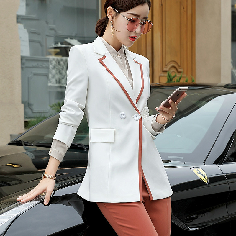 High quality European and American fashion style leisure suits Spring and Autumn new small wind suit