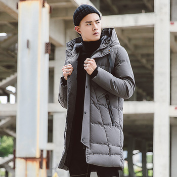 2018 Winter New Long Casual Cotton Men's Hooded youth Shirt Men's jacket Cotton jacket Color Black / Gray / Army green Size 4XL
