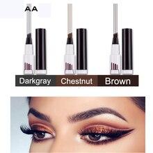 Brand New Eyebrow Pencil Waterproof Fork Tip Eyebrow Tattoo Pen 4 Head Fine Sketch Liquid Eyebrow Enhancer Dye Tint Pen