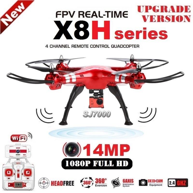 SYMA X8HG X8HW RC Drone 2.4g 6 Axe FPV RC Quadcopter Avec SJ7000 14MP 1080 p Full HD WiFi caméra Professionnelle Drone