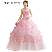 Quinceanera Dresses Organza Red Pink White Floor Length Sweet 16 Dresses Vestido 15 Anos