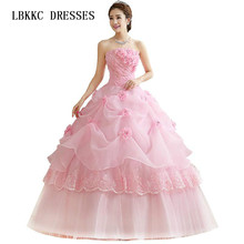 4ad3394bcf Vestidos de quinceañera baratos de Organza rojo rosa blanco hasta el suelo baratos  vestidos de quinceañera