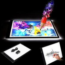 Big discount A4 LED Light Pad Stencil Board Tablet Tracing Drawing Board Table Display Box Tracing Table 3 Gear Dimming Accessories