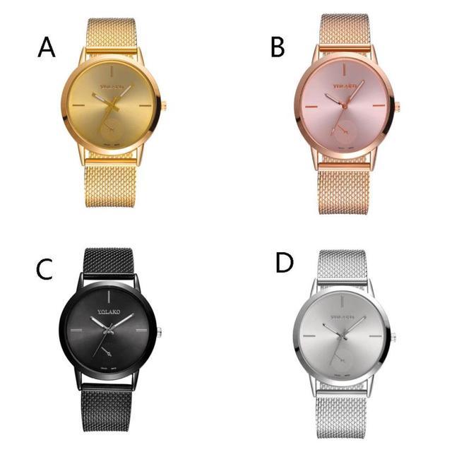 Fashionable High Hardness Glass Mirror And Women General Mesh Belt Watch fashion