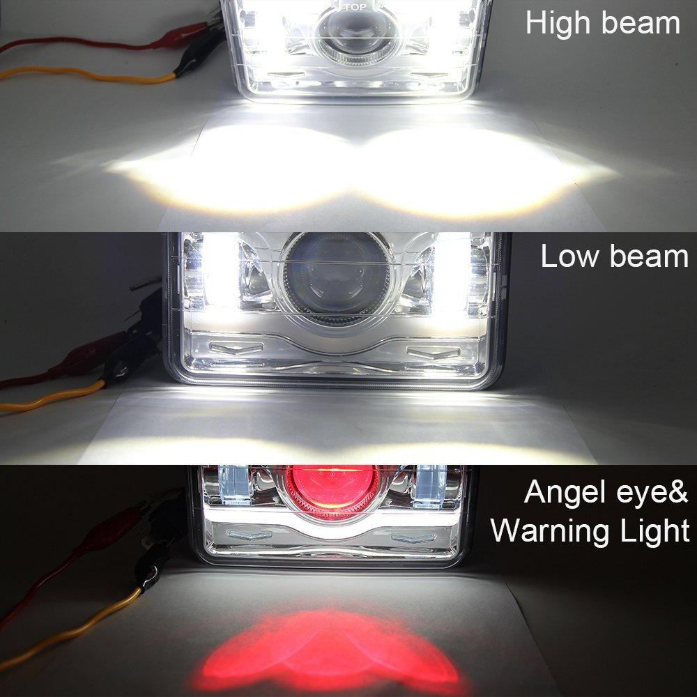 "4x6/"" Halogen Semi Sealed H4 Black Projector Glass Headlights Conversion Oldsmob"